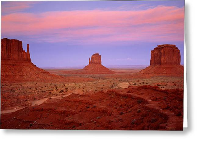 Navaho Greeting Cards - Monument Valley Azut Usa Greeting Card by Panoramic Images