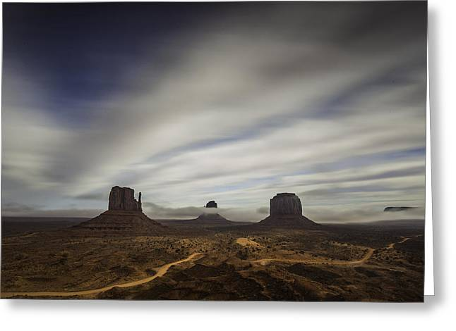 Monument Valley Greeting Card by Bill Cantey