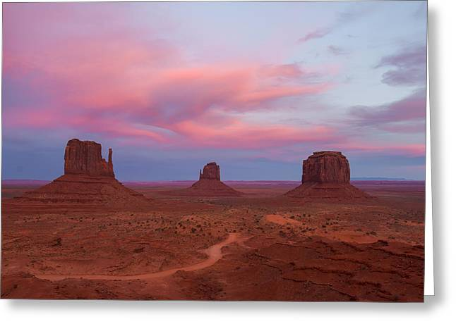Monolith Greeting Cards - Monument Valley Monoliths  Greeting Card by Daren Hill
