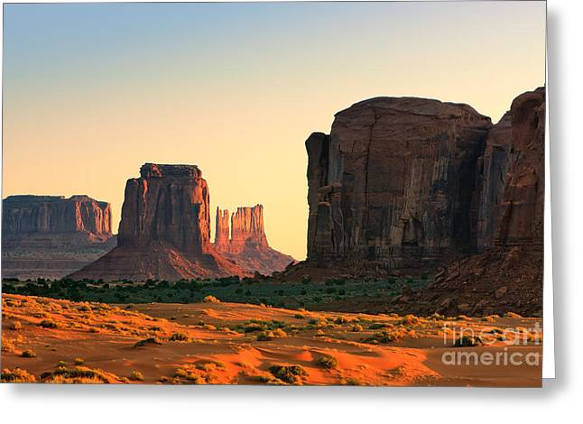Smooth Sandstone Greeting Cards - Monument Valley Greeting Card by Henk Meijer Photography