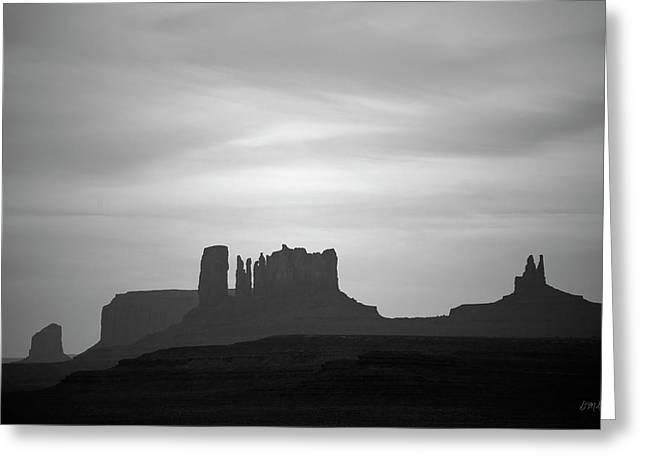 Monument Valley IIi Bw Greeting Card by David Gordon