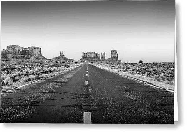 Road Travel Greeting Cards - Freedom BW Greeting Card by Az Jackson