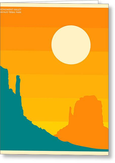 Monument Valley Navajo Tribal Park Greeting Card by Jazzberry Blue