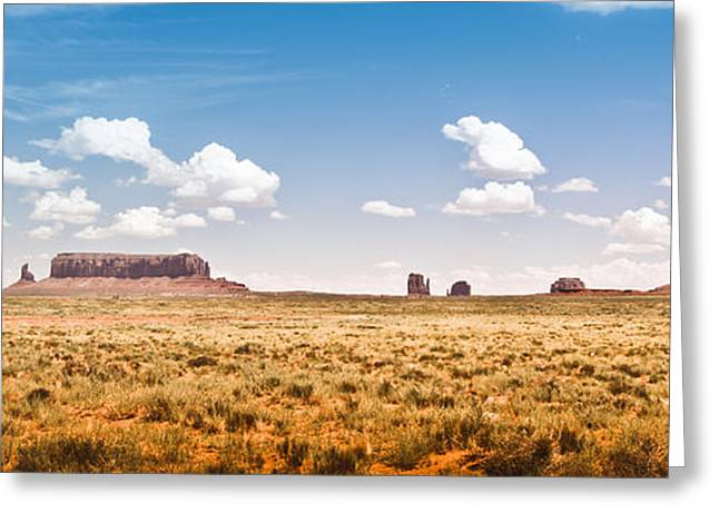 (c) 2010 Photographs Greeting Cards - Monument Valley Wide Angle Greeting Card by Ryan Kelly