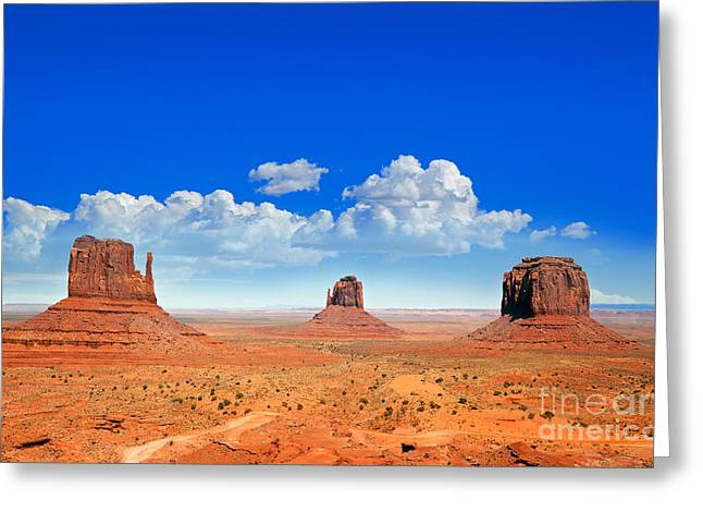 Desert Greeting Cards - Monument Vally Buttes Greeting Card by Jane Rix