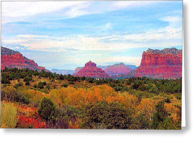 Bell Rock Greeting Cards - Monumental Bell Rock Vista Greeting Card by Kristin Elmquist