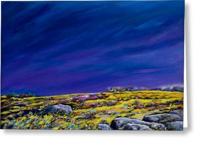 Maine Landscape Mixed Media Greeting Cards - Monumental Meadow Greeting Card by Richard Knox