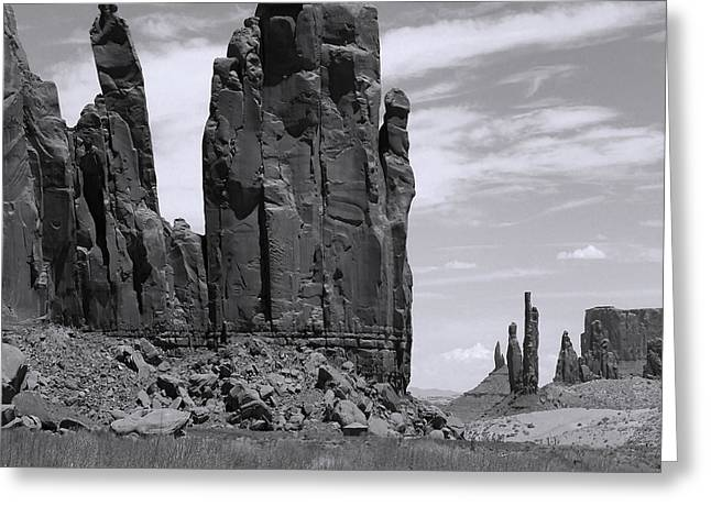 Layers Greeting Cards - MonumentValley 37 Greeting Card by Ingrid Smith-Johnsen