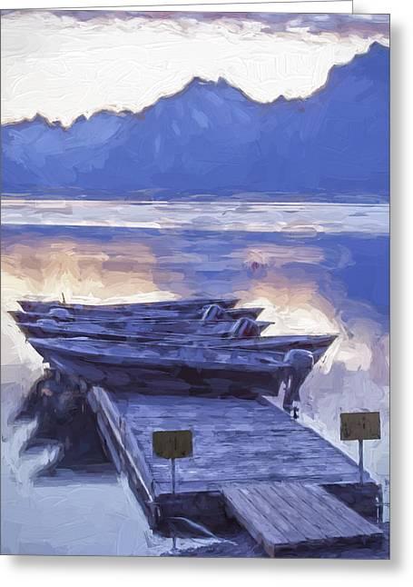 Motor Boats Greeting Cards - Mood Indigo II Greeting Card by Jon Glaser