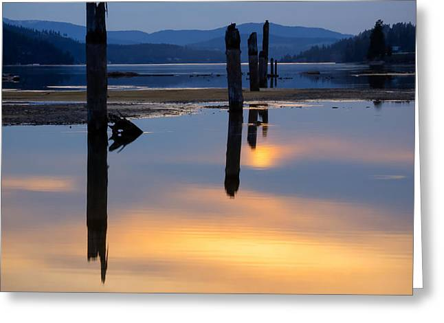 Mood on the Bay Greeting Card by Idaho Scenic Images Linda Lantzy