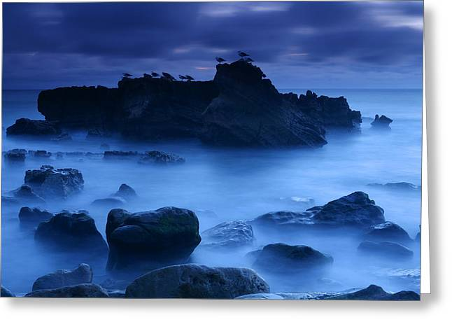California Beach Greeting Cards - Moody Blue Greeting Card by Eric Foltz