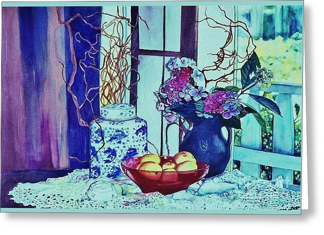 Lemon Art Greeting Cards - Moody Blues Greeting Card by Cynthia Pride