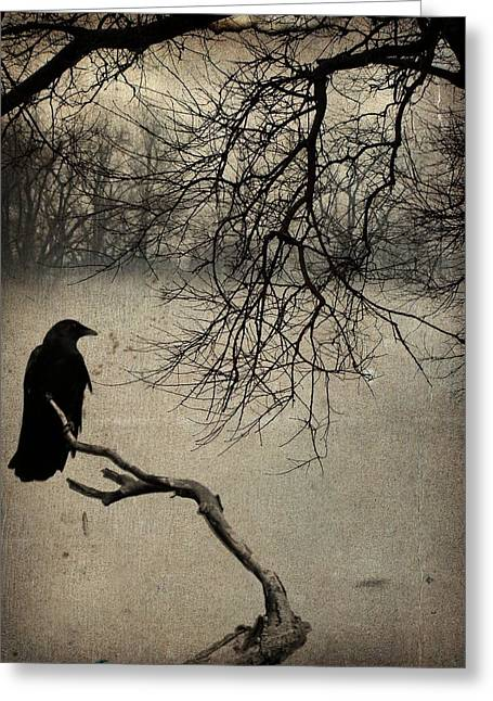 Nature Scene Art Digital Art Greeting Cards - Moody Fog Greeting Card by Gothicolors Donna Snyder