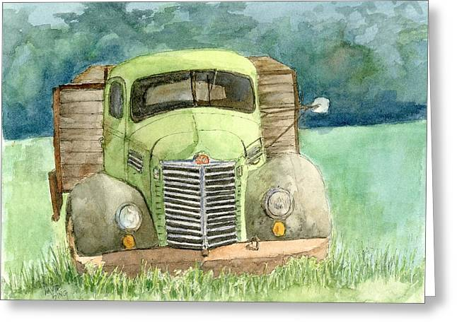Dilapidated Paintings Greeting Cards - Moody Green Greeting Card by David King