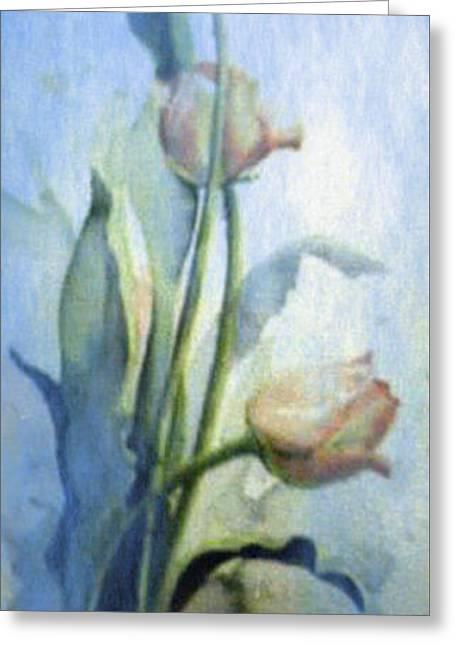 Moody Tulips Greeting Card by Hanne Lore Koehler