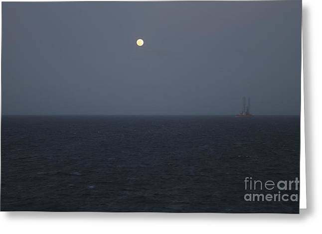 Sea Moon Full Moon Greeting Cards - Moon at Sea  Greeting Card by Clay Cofer