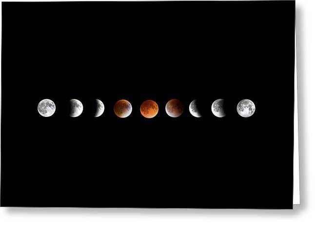 Outer Space Greeting Cards - Total Lunar Eclipse Greeting Card by Bill Wakeley