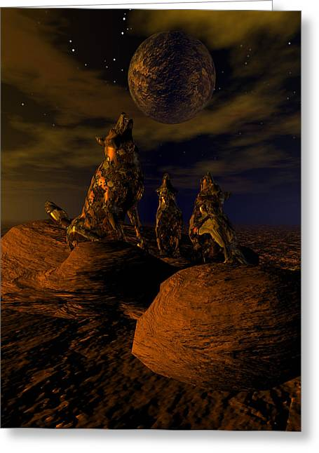 Bryce Greeting Cards - Moon Chorus Greeting Card by Claude McCoy