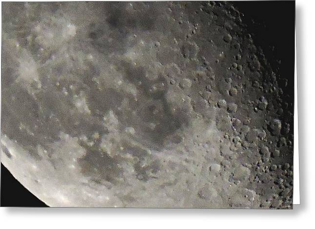 Sea Moon Full Moon Greeting Cards - Moon Extreme Closeup Greeting Card by Eileen Swanson