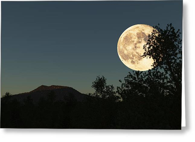 Moonrise Greeting Cards - Moon Greeting Card by Jason Podmore