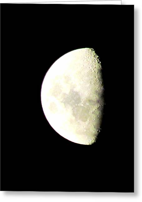 Greeting Cards - Moon Greeting Card by Joyce Woodhouse