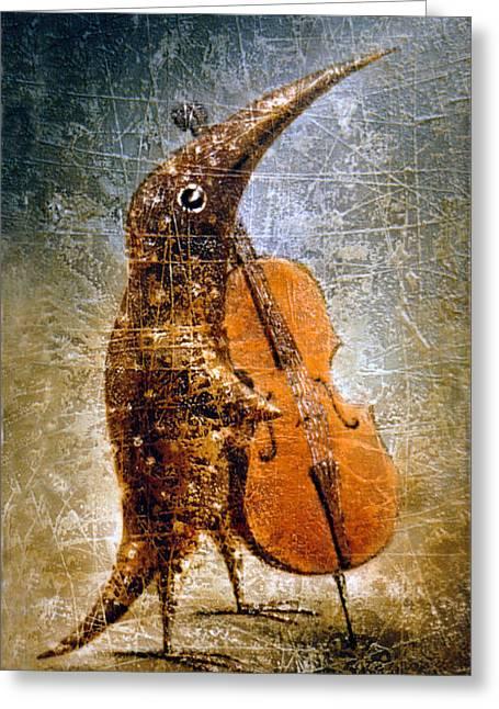 Birdman Greeting Cards - Moon Light Sonata Greeting Card by Lolita Bronzini