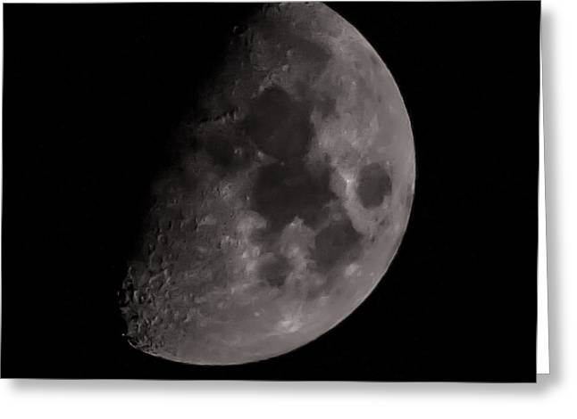Low Light Greeting Cards - Moon Greeting Card by Martin Newman
