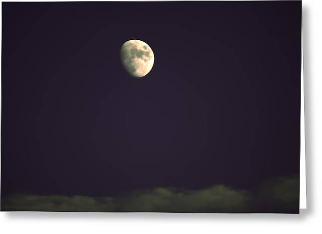 Kevin Sherf Greeting Cards - Moon on Blue Greeting Card by Kevin  Sherf