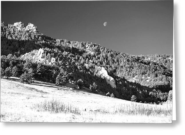 Colorado Greeting Cards - Moon Over Chatauqua 2 Greeting Card by Marilyn Hunt