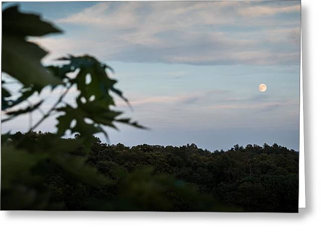Moonrise Greeting Cards - Moon Over Marietta  Greeting Card by Jan M Holden
