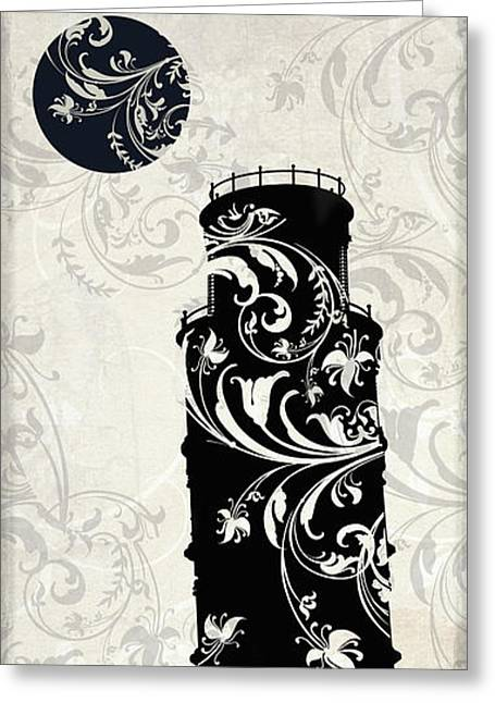 Pisa Greeting Cards - Moon Over Pisa Greeting Card by Mindy Sommers