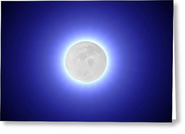 Luminescent Greeting Cards - Moon Greeting Card by Pet Serrano