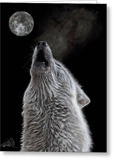Moon Song Greeting Card by Terry Kirkland Cook