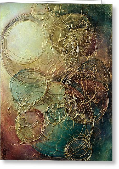 Subtle Colors Greeting Cards - Moon thread Greeting Card by Michael Lang