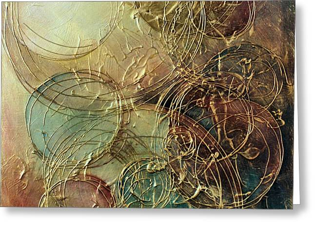 Moon thread Greeting Card by Michael Lang