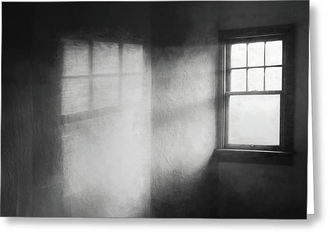 Moonbeams On The Attic Window Greeting Card by Scott Norris