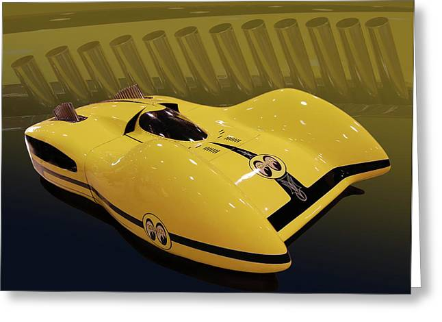 Salt Flats Racer Greeting Cards - Mooneyes Streamliner Greeting Card by Bill Dutting