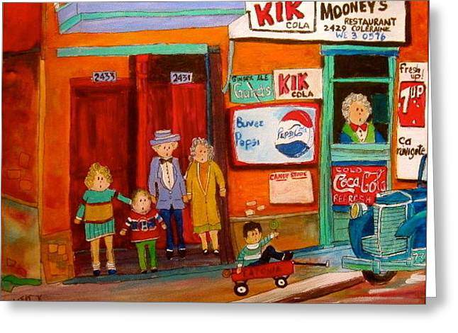 Mooney's Candy Store In The Point Greeting Card by Michael Litvack