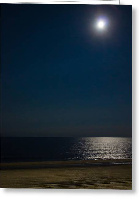 Moon Beach Greeting Cards - Moonlight Greeting Card by Brian Manfra