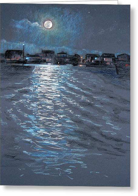 Moonlight Greeting Card by Christopher Reid