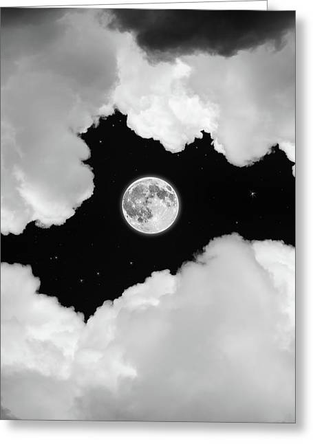 Image Pyrography Greeting Cards - Moonlight Greeting Card by Ian David Soar