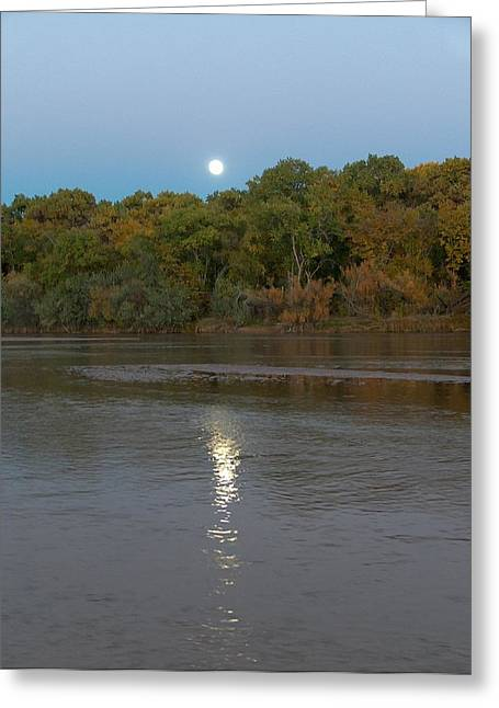 Moonlight On The River Greeting Cards - Moonlight on the Rio Grande Greeting Card by Tim McCarthy