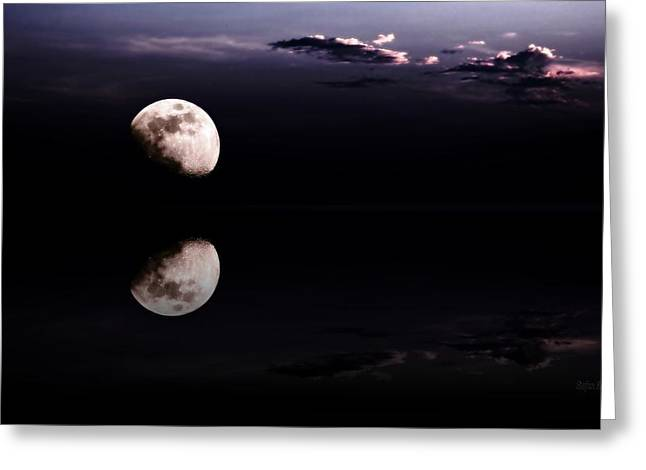 Moonlit Night Photographs Greeting Cards - Moonlight Shadow Greeting Card by Stefan Kuhn