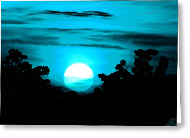 Planetoid Paintings Greeting Cards - Moonlight Sonata  Greeting Card by Bruce Nutting