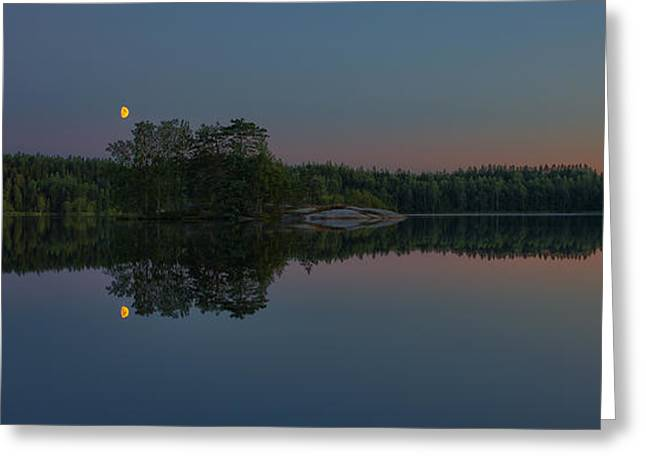 Salo Greeting Cards - Moonlight Greeting Card by Veikko Suikkanen