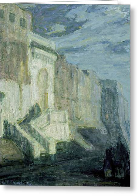 African American Artist Greeting Cards - Moonlight - Walls of Tangiers Greeting Card by Henry Ossawa Tanner