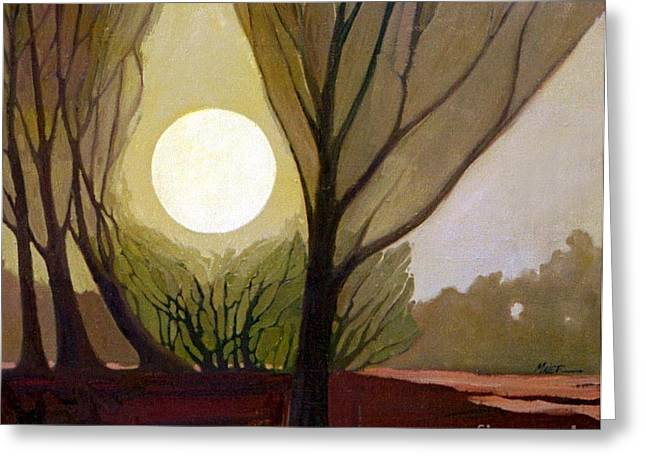 Dreamscapes Greeting Cards - Moonlit Dream Greeting Card by Donald Maier