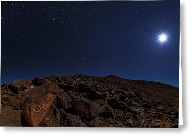 Moonlit Night Photographs Greeting Cards - Moonlit Night, Atacama Desert, Chile Greeting Card by Babak Tafreshi