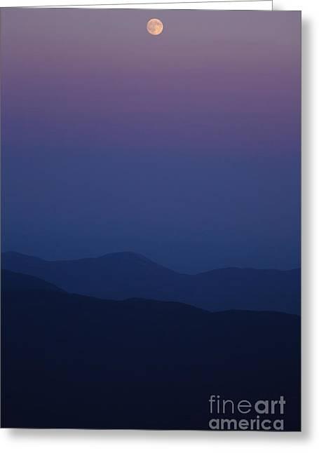 Satisfaction Greeting Cards - Moonrise - Mount Washington New Hampshire  Greeting Card by Erin Paul Donovan