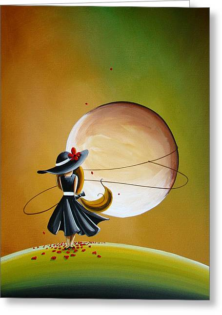Illustrative Paintings Greeting Cards - Moonrise Greeting Card by Cindy Thornton